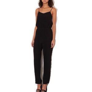 Topshop Solid Black Sleeveless Cami Jumpsuit 4